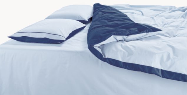 to measure 100% cotton percale duvet cover