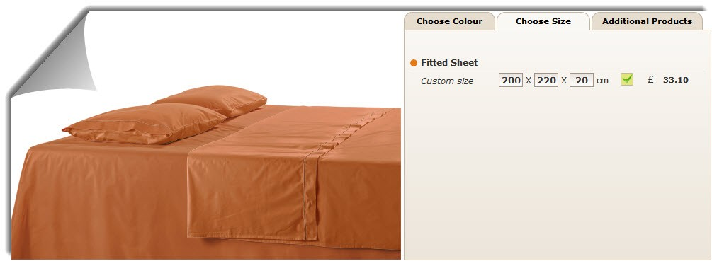 Made to Measure Cotton Sateen Fitted Sheet