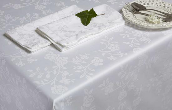 nappe sur mesure en coton damass linge de table custom bedding. Black Bedroom Furniture Sets. Home Design Ideas