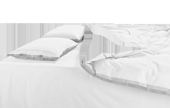 housse de couette bicolore sur mesure percale de coton. Black Bedroom Furniture Sets. Home Design Ideas