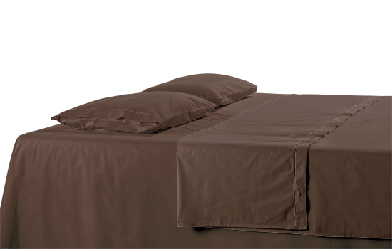 Percale Custom Fitted Sheet Dark Brown