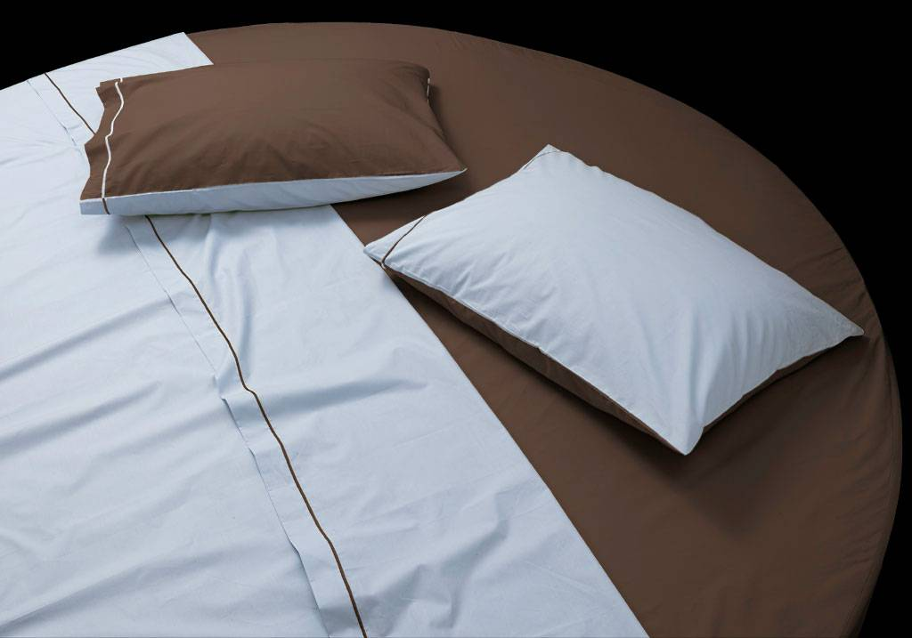 Made to measure round bed cotton sateen sheet set